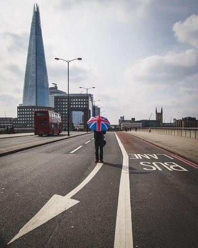 Empty LONDON❤ London Shard London Bridge Urban Urbanphotography Architecture Manwiththeunionjackumbrella Empty London_only Cityscapes City