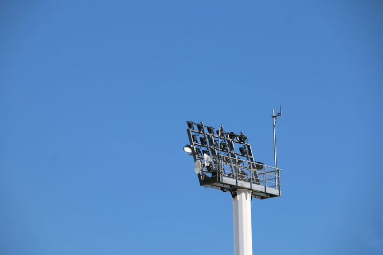 Floodlight Light Low Angle View Blue Day No People Outdoors Sky