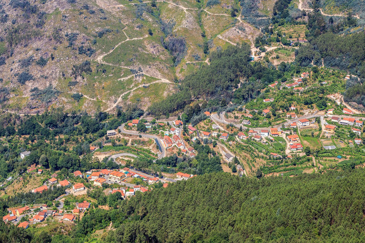 Gerês Portugal Caniçada Landscape Environment Plant Scenics - Nature Tree Land High Angle View Growth Beauty In Nature Tranquil Scene Rural Scene Nature No People Mountain Field Day Green Color Tranquility Agriculture Architecture Outdoors