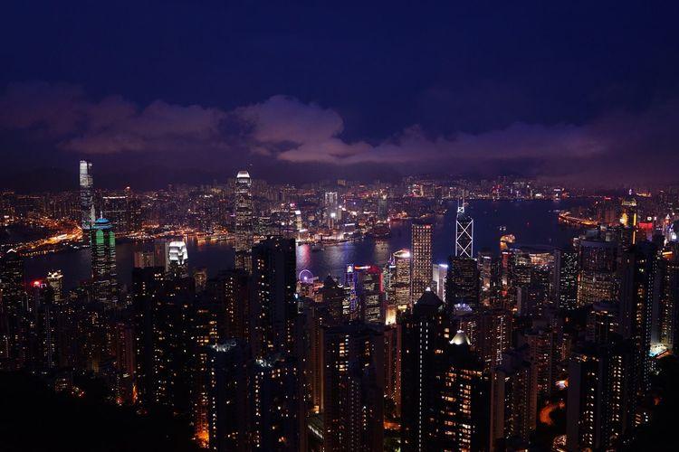 HongKong Metropolis Night Nightphotography Cityscapes Light And Shadow Showcase April