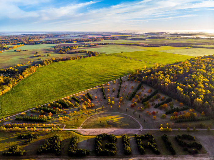 Mavicair Lithuania Fromwhereidrone Fiftyshades_of_nature Park Tree Sunset Field Multi Colored Beauty