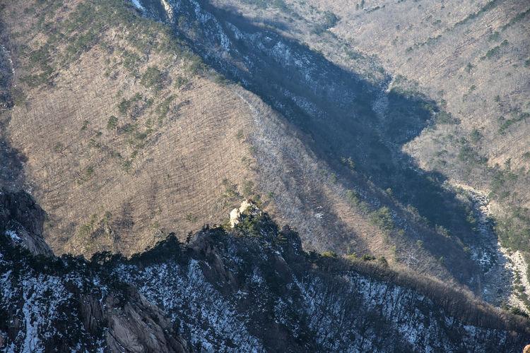 High Angle View Of Mountains At Seoraksan National Park
