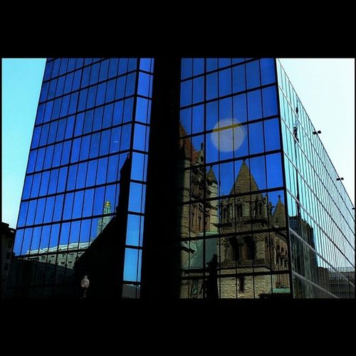 Hancock Building Cityofboston CopleySquare reflection