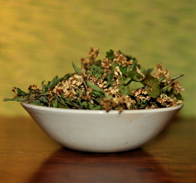 Herbs Alternative Medicine Bowl Close-up Day Dried Freshness Green Color Hawthorn Heart Healt Herbal Indoors  Nature No People