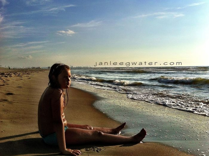 Elze enjoying the sun Watching The Sea