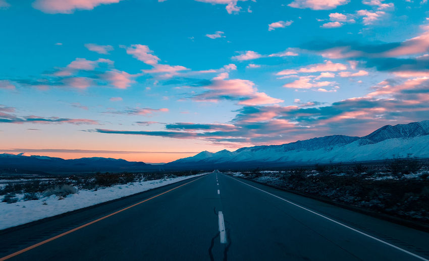 Road The Way Forward Landscape Travel Sunset Outdoors Scenics Mountain Landscape_photography Landscape Photography California Landscape_Collection EyeEm Best Shots From My Point Of View Sunrise_sunsets_aroundworld Sierra Nevada Mountains