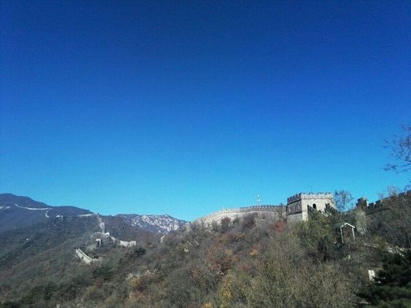 Blue Clear Sky Mountain Nature Day Beauty In Nature Tranquility Landscape Scenics Outdoors Tree No People Architecture Sky Great Wall Great Wall Of China Beijing Badaling China Chinese Built Structure Chinese History