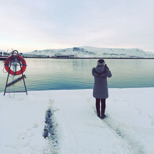 Reykjavik Beauty In Nature Tranquil Scene Day Iceland Reykjavik Harbour Water Outdoors Water Scenics Mountain Nature Snow Cold EyeEm Nature Lover Capture The Moment My Year My View Still Life EyeEmNewHere Miles Away Women Around The World The Great Outdoors - 2017 EyeEm Awards The Great Outdoors - 2018 EyeEm Awards The Street Photographer - 2018 EyeEm Awards The Traveler - 2018 EyeEm Awards