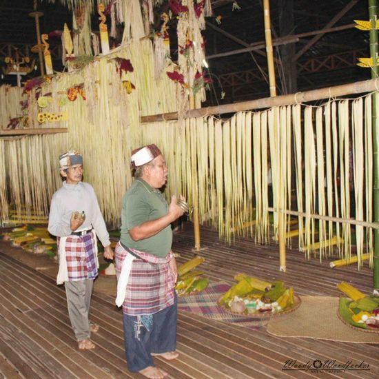 Damang & para Balian yang mengelilingi lalaya semalaman suntuk sambil membaca do'a-do'a & membunyikan gelang hiyang. Visitkalsel SouthBorneoTravellers Iamacreativ Thecreativmovement Culture Adventure Travel ___________________________ Loksado, Balai Adat Malaris - Aruh Ganal 27-28 'Sept 2014