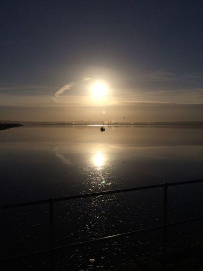Atmospheric Mood Dusk Horizon Over Water Kincardine KincardineBridge Outdoors River Forth Sea Shore Silhouette Sky Sunset