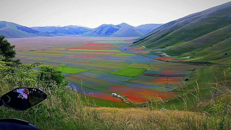 castelluccio di Norcia #italy #castellucciodinorcia #lenticchie #montagna #mototravel Landscape Mountain Outdoors Field Day Agriculture Rural Scene Nature Beauty In Nature Water Scenics No People Freshness Sky Tree Colour Your Horizn