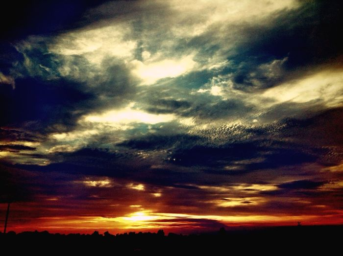 Saw this on my way home:) Nature Sunset Beautiful Sky View Today