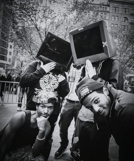 Tech Heads • Union Square Park • 2016 The Street Photographer - 2016 EyeEm Awards The Portraitist - 2016 EyeEm Awards Candid Portraits Blackandwhite Streetphotography Everybodystreet UrbanSpringFever Peopleofnyc Helloicp Photography Portrait People Characters Check This Out NYC Photography Nyc Streets Street_capture People Watching Enjoying Life Hikaricreative Lensculture Street Photography Eccentric People