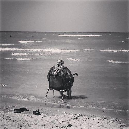 Beach Photography Italia Mediterranean Sea Adriatic Sea Beach Blackandwhite Blackandwhite Photography Ocean Old Woman Old Woman Sitting Alone See Woman Sitting Alone