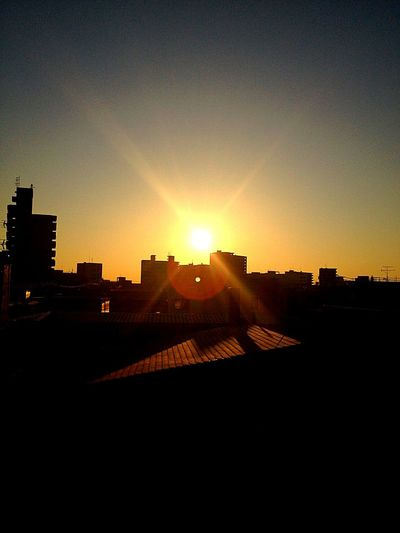 Sunset Sky City Architecture Nature No People Japan Iwate,japan Morioka-shi