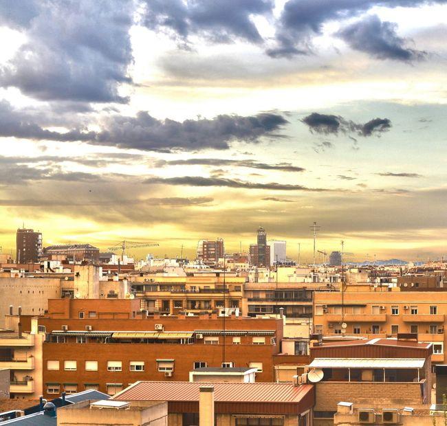 Madrid Skyline Color Atardecer