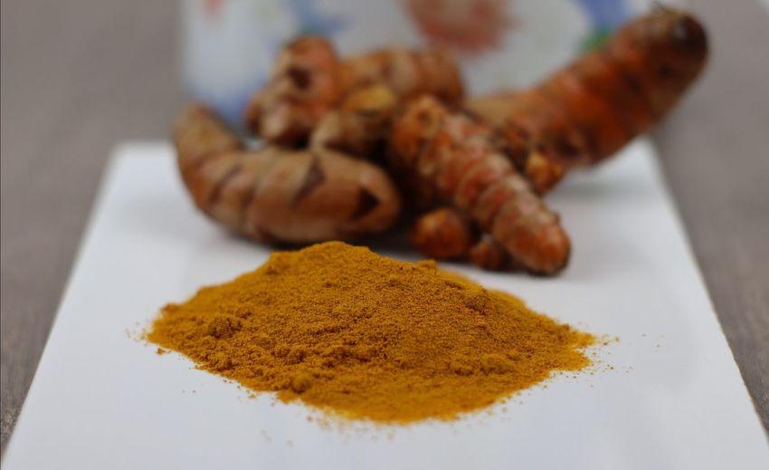 Close-up of turmeric powder