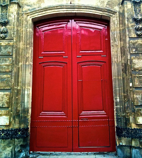 Architecture Background For Quotes Building Exterior Close-up Closed Day Door Entrance No People Old Building Door Old Building Exterior Outdoors Presentation Background Protection Red Red Colour Red Door Safety Security Shiny Surfaces Stone Wall Paris, France