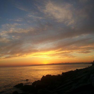 Günesinbatisi ,Ufuk Akşam Sun manzara deniz