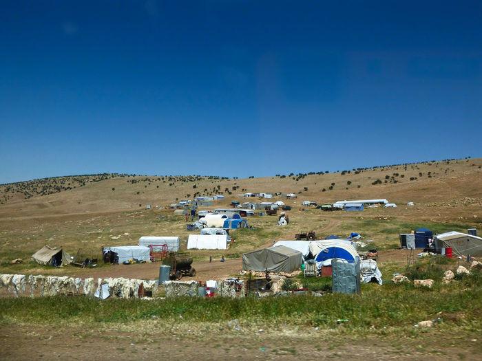 Landscape Sky Land Clear Sky Mountain Building Outdoors Field Refugee Camp Refugees Refugee Crisis