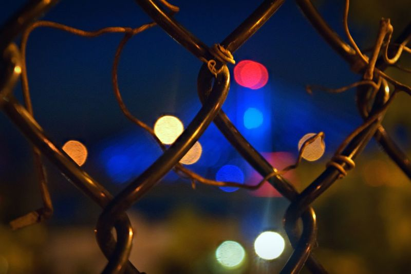 Executing the Night. Outdoors Landscape_photography Outdoor Photography FineArtAmerica Illuminated Close-up No People Night Indoors  Focus On Foreground HUAWEI Photo Award: After Dark Pattern Full Frame Shape Design Fence Glowing Light - Natural Phenomenon Backgrounds Geometric Shape
