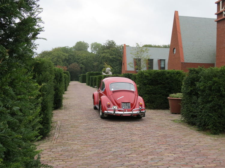 Architecture Building Exterior City Day Land Vehicle Netherlands ❤ No People Outdoors Red Red Vw Bug Sky Tree V VW Beetle The Graphic City