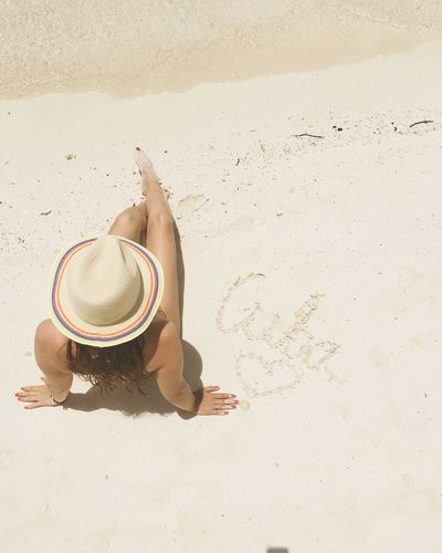 Waterfront Travel Destinations Water Outdoors No People Beach Young Women Varadero Sand Relaxing Relaxation Vacations Sunhat Sun Hat Tropical Paradise Cuba