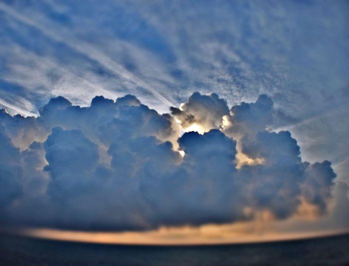 Space Sunset Blue Heaven Sky Close-up Cloud - Sky Sky Only Dramatic Sky