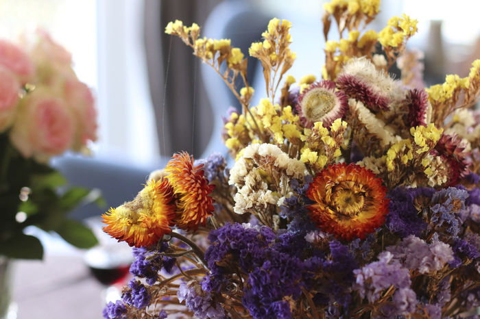 Beauty In Nature Bouquet Close-up Day Flower Flower Head Fragility Indoors  Nature No People Plant