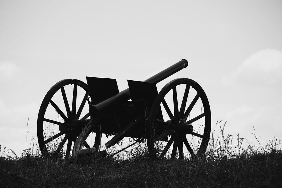 Field Gun War No People Weapon Outdoors Blackandwhite