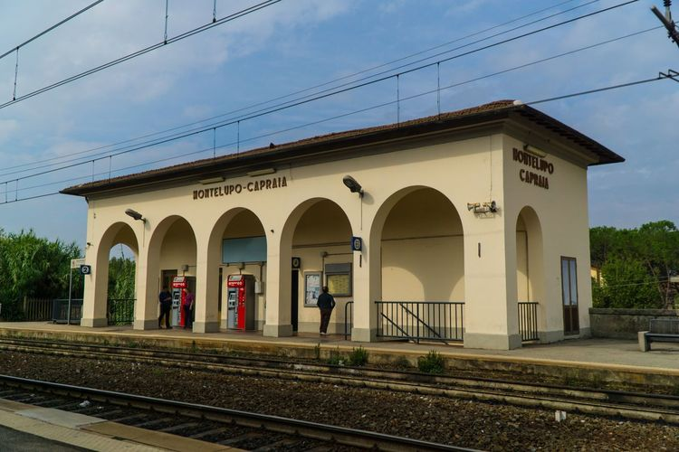 Montelupo train station, Italy Travel Destinations Italy Train Train Station Montelupo Fiorentino Built Structure Architecture Building Exterior Arch Sky Building Nature Travel Men Group Of People Full Length People Religion Place Of Worship Adult Outdoors Lifestyles Day Real People Women