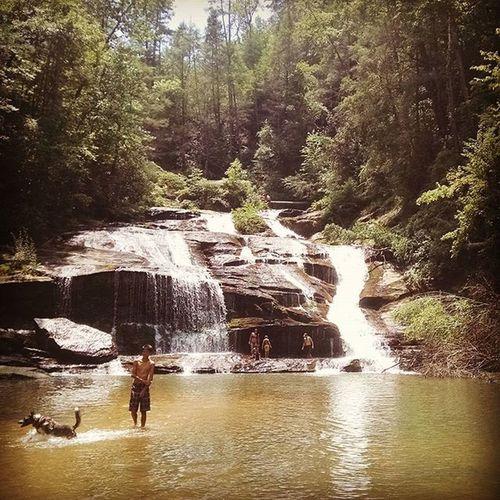 I think I love it here... Panthercreekfalls Georgia Hiking Waterfall Explore Getoutofthehouseandexplore