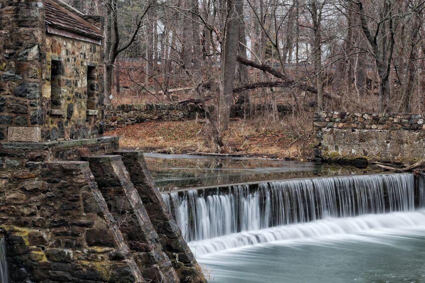 Historic Speedwell Mill Waterfall Ice New Jersey Morristown Nj Water