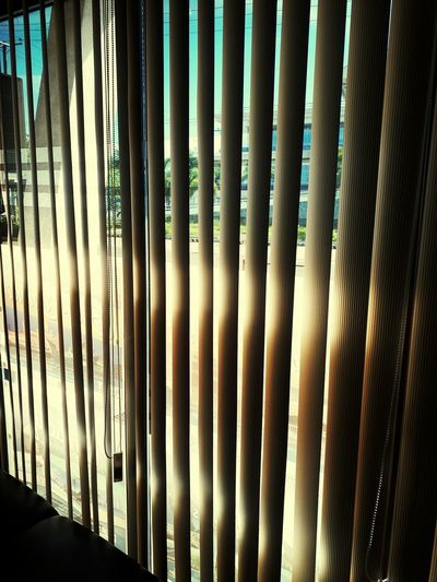 Peek Outside At The Office Blinds Peeking Out Peeking Out The Window Vertical Blinds Sunlight EyeEm Ready