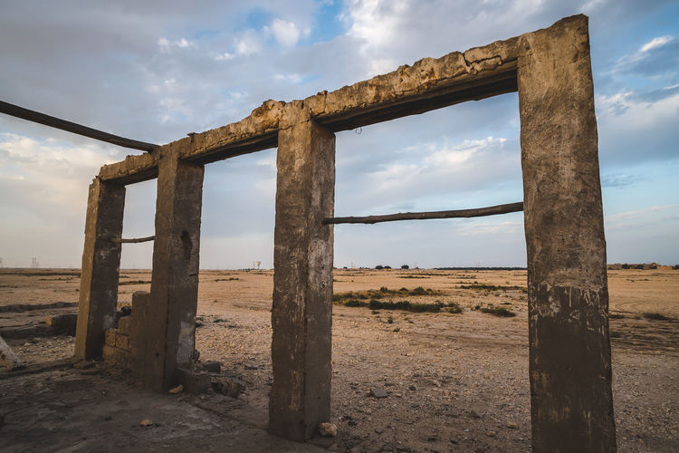 Sky Cloud - Sky Land Architecture Nature Built Structure No People Day Field Old Horizon Landscape History Tranquil Scene Damaged Non-urban Scene Ancient Wood - Material Outdoors Environment Ancient Civilization Abandoned