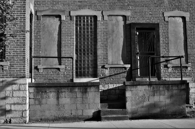 Abandoned Buildings Architecture Black And White Brick Wall Building Exterior City Columbus Day No People Ohio Urban Stories From The City