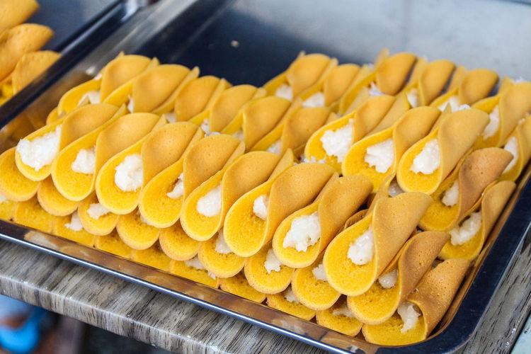 Close-up of yellow food