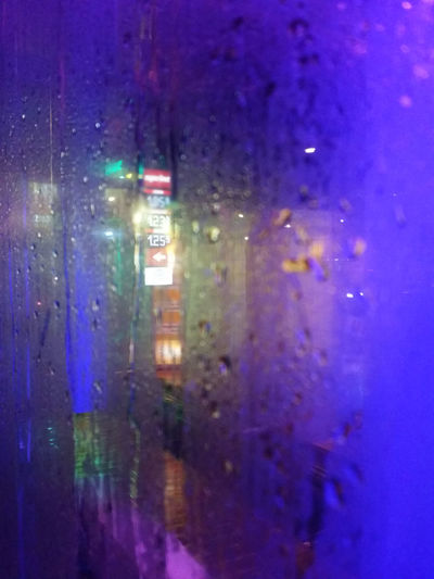 Colourful Wet Carwash Streetphotography