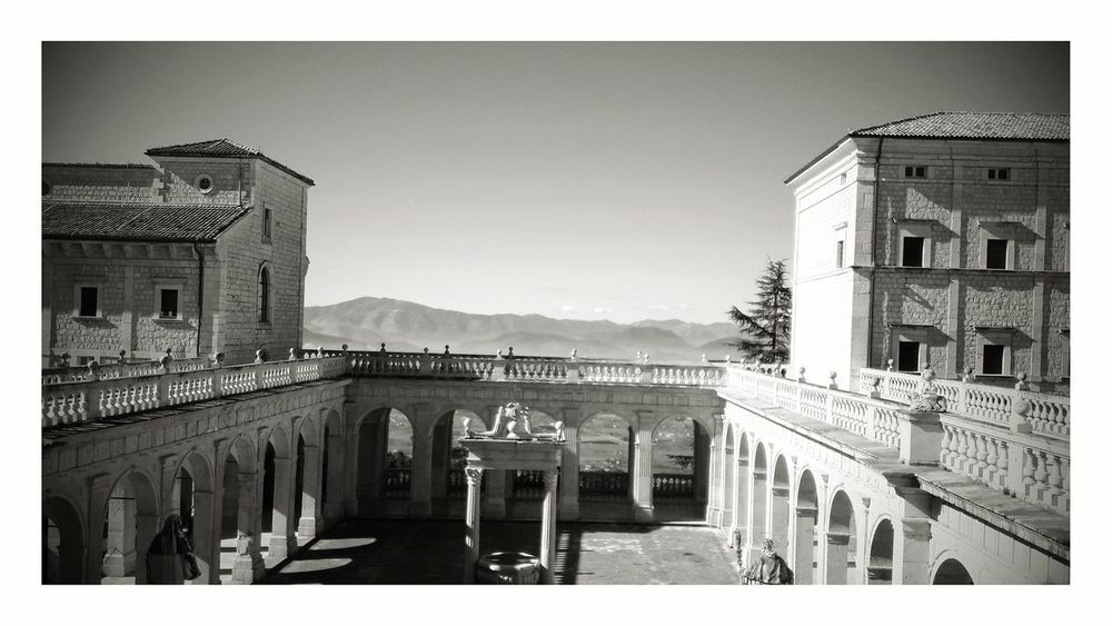 Montecassino Kloster Architecture Italia Abbey Kreuzgang Travel Destinations Sky No People