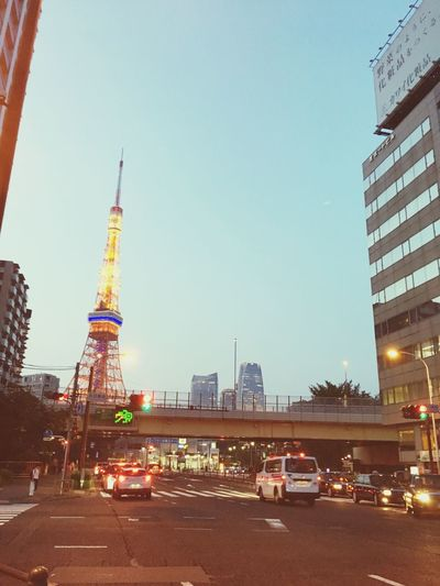 Urban Geometry Early Summer Busy City Tokyo Tower Neighborhood Sunset Beginning Of The Night IPhoneography