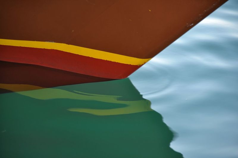 Reflections Reflections In The Water EyeEm Gallery EyeEm Water Multi Colored Nautical Vessel Red Backgrounds Boat