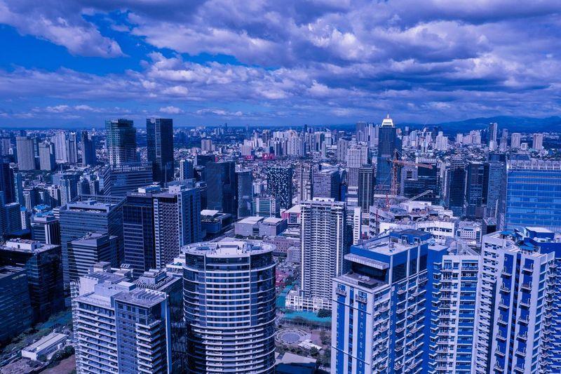 City of Blue Building Exterior City Built Structure Architecture Sky Building Cityscape Urban Skyline