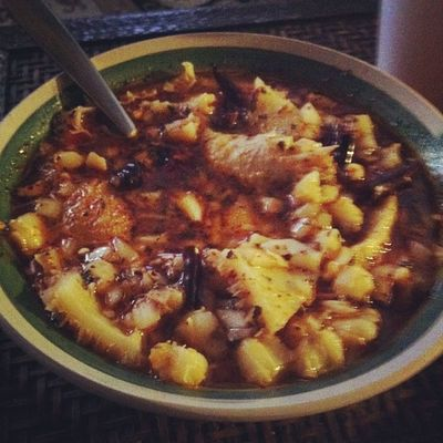Menudo after a hungover Hits The Spot
