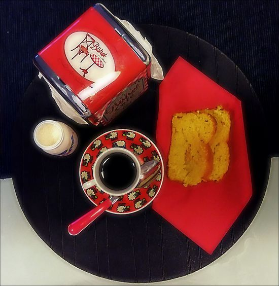 My Favorite Breakfast Moment Colazione Time  Colazione Caffè Coffee Coffee Time Cake Brackfast Breackfasttime Red Bistrot Myhome