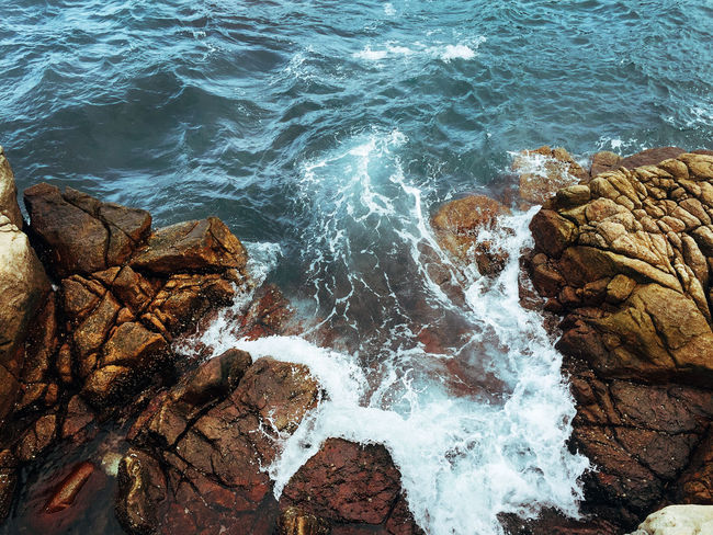 Taiwan Beauty In Nature Close-up Day High Angle View Nature No People Ocean Outdoors Rock - Object Sea Shore Water Wave Whitewater