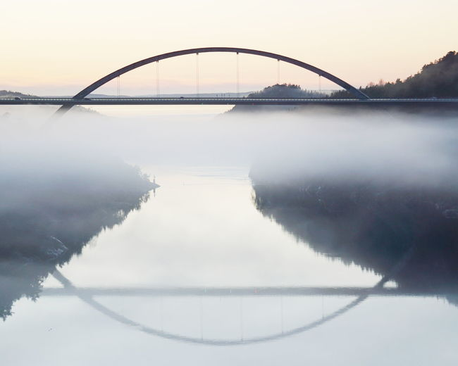 Svinesund bridge Svinesund Bridge Svinesund Svinesund Bru Bridge Norway Bridge - Man Made Structure Water Business Finance And Industry Reflection Fog Sky No People Symmetry Landscape Nature Day Shades Of Winter