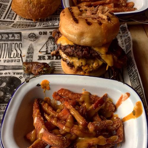 Donut Burgers Donut Burger Grill Grilled Barbecue Barbecue Grill