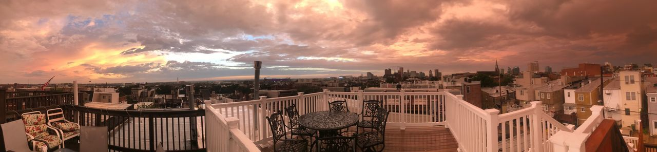 Sky_collection Sky And Clouds Sky Skyporn Sunset Maryland Baltimore Bmore Rooftopview Rooftop #baltimore EyeEm Selects Cloud - Sky Sky Sunset Outdoors Panoramic No People