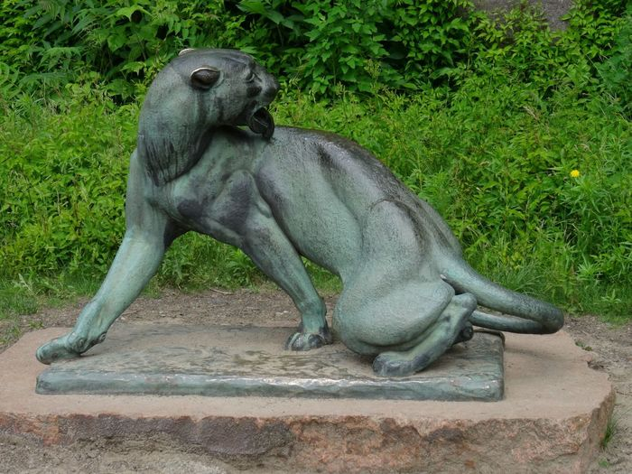 Sculpture No People Animal Themes Statue Nature Outdoors Day Landscape_Collection Panther Animals Beauty In Nature Tranquility Germany