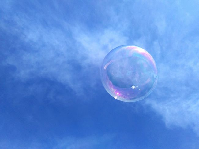 Dreams are like bubles, fulfill them before they broke in thin air.. 😇 Soap Sud Bubble Sky Mid-air Fragility Close-up No People Outdoors Space Bubble Wand Cloud Bubbles In The Sky